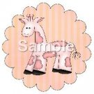 Giraffe ~ Bundle of Joy Pink Baby Girl Baby Shower ~ Cupcake Toppers ~ Set of 1 Dozen