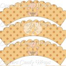 Childhood Cancer Find A Cure Baby Girl ~ Cupcake Wrappers ~ Set of 1 Dozen