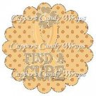 Childhood Cancer Find A Cure  ~ Cupcake Toppers ~ Set of 1 Dozen