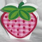 Strawberry ~ Mini Treat Box Gift Tote Party Favor