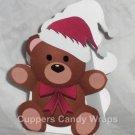 Christmas Teddy Bear ~ Mini Treat Box Gift Tote Party Favor