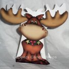 Christmas Moose ~ Mini Treat Box Gift Tote Party Favor