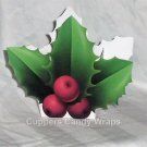 Christmas Holly ~ Mini Treat Box Gift Tote Party Favor