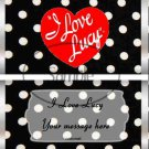 I Love Lucy Inspired Silver Foil ~ Standard 1.55 oz Candy Bar Wrapper  SOE 1 Dozen