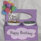 Happy Birthday Purple with Balloons ~ K-Cup Gift Holder