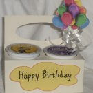 Happy Birthday Cream/White & Yellow with Balloons ~ K-Cup Gift Holder
