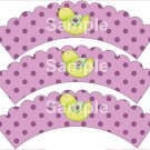 Song Bird Purple ~ Cupcake Wrappers ~ Set of 1 Dozen