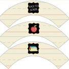 Back to School ~ Cupcake Wrappers ~ Set of 1 Dozen