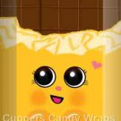 Shopkins Inspired Yellow Vertical ~ MINI Candy Bar Wrappers EACH