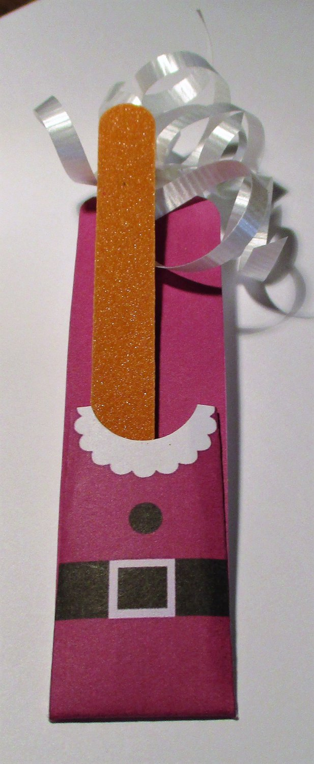 Santa Suit Emery Board Nail Cover and File Emery Board ~ Nail File Holder