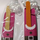 Santa Suit Emery Board Nail Cover and File Emery Board ~ Nail File Holder ~ 1 Dozen