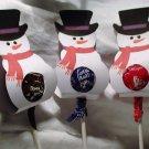 Snowman Tootsie Pop Sucker Cover ~ 1 Dozen