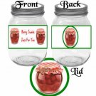 Berry Sweet Raspberry Jam ~  Pint Glass Jar Label