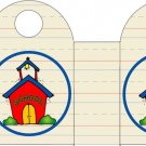 Back To School Schoolhouse ~ Handled Gift Tote Bag EACH