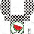 Black White Checkered Watermelon Ant ~ Round Green Watermelon~Hershey's Mini Candy Bar 4 Wrapper Box