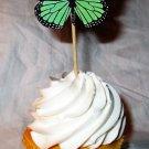 Green Standard Size 3D Butterfly Cupcake Topper, Butterflies,, Birthday