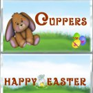 Happy Easter Standard Size (1.55oz.) Candy Bar Wrapper, Brown Bunny,  Easter Basket