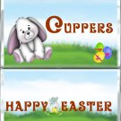 Happy Easter Standard Size (1.55oz.) Candy Bar Wrapper, White Bunny,  Easter Basket