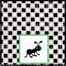 Black White Checkered Watermelon Ant ~ Square Green Ant ~ Treat Bag Topper