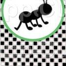 Black White Checkered Watermelon Ant ~ Round Green Ant  ~ Bookmark 1 Dozen