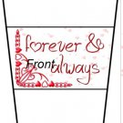 Valentine's Day Forever & Always ~ Standard Size Gift Card Holder Latte` Cup