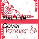 alentine's Day Forever & Always  ~ MINI Matchbook Nail File COVER ONLY