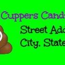 Poop Green Return Address Labels ~ 1 Sheet of 30 Matte` labels