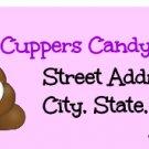 Poop Pink Return Address Labels ~ 1 Sheet of 30 Matte` labels