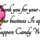 Thank You For Your Order Heart White Address Labels ~ 1 Sheet of 30 Matte` labels