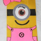 Pink Girl Minion Inspired, One (1) Eye Party Treat Bag, Birthday Party Favor, Gift Bag