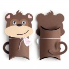 Monkey, Ape Animal Pillow Treat Box, Party Favor, Gift Wrap