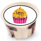 """Pink Cupcake Birthday 2"""" Individual Ice Cream Cup Lid Cover ~ Sticker Sheet of 20"""
