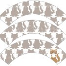 Cat All Over Print Gray ~ Cupcake Wrappers ~ Set of 1 Dozen