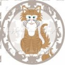 Cat All Over Print Individual Cat #2 ~ Cupcake Topper ~ Set of 1 Dozen