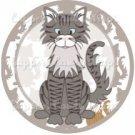 Cat All Over Print Individual Cat #5 ~ Cupcake Topper ~ Set of 1 Dozen