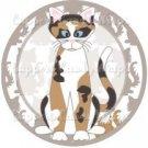 Cat All Over Print Individual Cat #8 ~ Cupcake Topper ~ Set of 1 Dozen