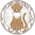 Cat All Over Print Individual Cat #17 ~ Cupcake Topper ~ Set of 1 Dozen