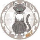 Cat All Over Print Individual Cat #18 ~ Cupcake Topper ~ Set of 1 Dozen