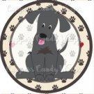 Dog Paws Black Lab ~ Cupcake Topper ~ Set of 1 Dozen