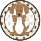 Dog Paws Long Haired Dachsund ~ Cupcake Topper ~ Set of 1 Dozen