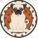 Dog Paws Pug ~ Cupcake Topper ~ Set of 1 Dozen