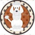 Dog Paws White Poodle ~ Cupcake Topper ~ Set of 1 Dozen