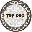 Dog Bone Top Dog ~ Cupcake Topper ~ Set of 1 Dozen