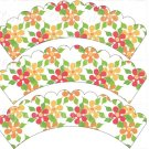 Wild Flowers ~ Cupcake Wrappers ~ Set of 1 Dozen
