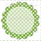 Green Gingham Personalize it! ~ Cupcake Topper ~ Set of 1 Dozen