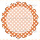 Orange Gingham Personalize it! ~ Cupcake Topper ~ Set of 1 Dozen