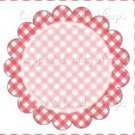 Pink Gingham Personalize it! ~ Cupcake Topper ~ Set of 1 Dozen