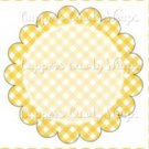 Yellow Gingham Personalize it! ~ Cupcake Topper ~ Set of 1 Dozen