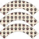 Dog Paws All Over ~ Cupcake Wrappers ~ Set of 1 Dozen