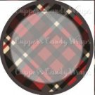 Red Large Plaid Personalize it! ~ Cupcake Topper ~ Set of 1 Dozen